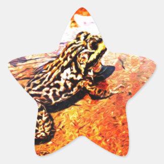 Art Bullfrog Star Sticker