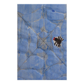 Art by Children, Spider with cobweb, drawing Stationery