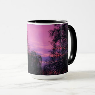 Art by God a gorgeous sunrise through the trees Mug