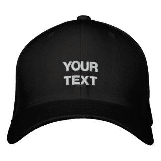 Art Cap: Arty Clothes Badge. Custom Text Embroidered Baseball Caps