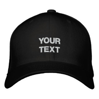 Art Cap: Arty Clothes Badge. Custom Text Embroidered Hat