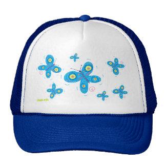 Art Cap: Blue Butterflies Hat