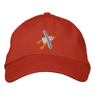 Art Cap in red Seagull Design by John Dyer