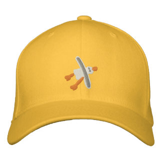 Art Cap in Yellow Seagull Design by John Dyer Embroidered Baseball Caps