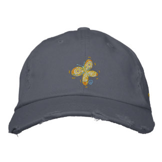 Art Cap: John Dyer Orange Butterfly and Signature Embroidered Hat