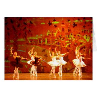 Art Card: Amber Sunset. Ballet Menton. Greeting Card