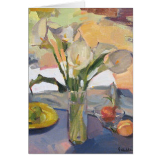 "Art Card Blank Greeting Card ""Calla Lilies"""
