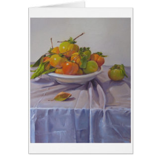 "Art Card Blank Greeting Card ""Persimmon Plenty"""