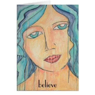 Art Card Blue Hair