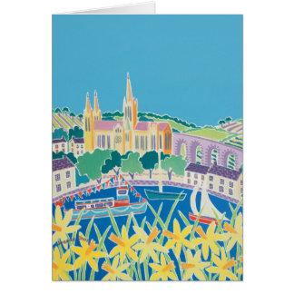 Art Card: Blue Sky Truro by Joanne Short Card