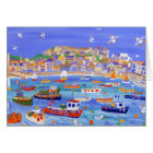 Art Card: Boats in the Harbour, St Ives Cornwall Card