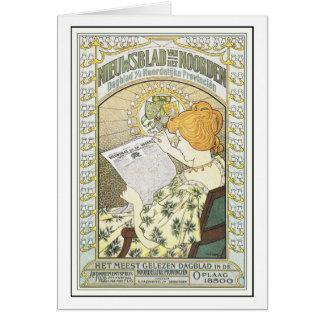 Art Card: Mucha: Vintage Advertising Art: Dutch Ne Card