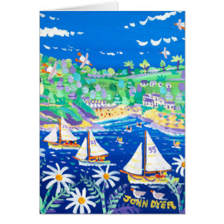 Art Card Racing down the River Fowey by John Dyer