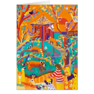 Art Card: Relaxing Red Pandas Greeting Card