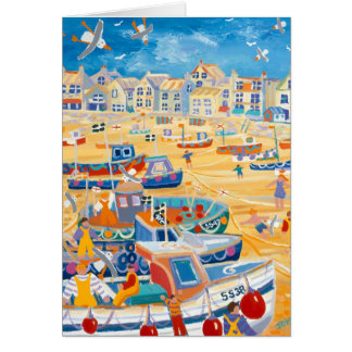 Art Card: St Ives Harbour, Cornwall Card