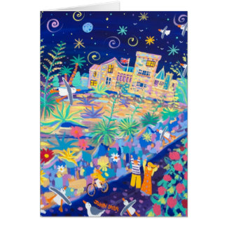 Art Card: Tropical Blue Night, Tresco by John Dyer Card