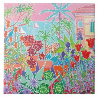 Art Ceramic Tile: Joanne Short, Côte d'Azur Menton Tile