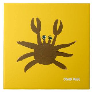 Art Ceramic Tile: John Dyer Cornish Crab Tile