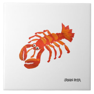 Art Ceramic Tile: John Dyer Cornish Lobster Tile