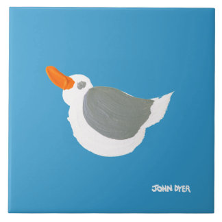 Art Ceramic Tile: John Dyer Flying Seagull Tile