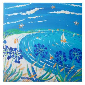 Art Ceramic Tile: John Dyer Scilly Blue View Ceramic Tile