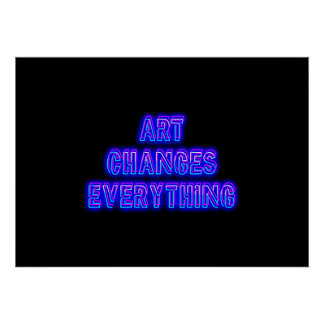 Art Changes Everything Poster