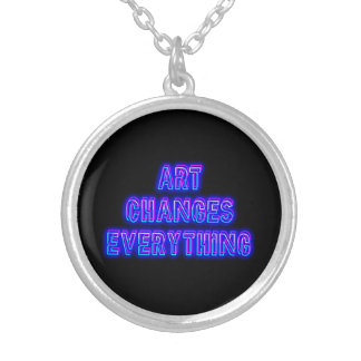 Art Changes Everything Silver Plated Necklace