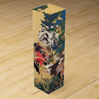 Art Chinese Rooster Year 2017 Custom Wine Gift B Wine Bottle Box