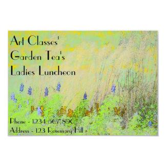 Art Classes Ladies Luncheon Garden Tea's Card