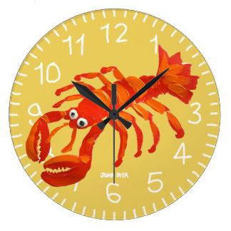 Art Clock: John Dyer Cornish Lobster. Padstow Clocks