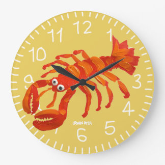 Art Clock: John Dyer Cornish Lobster. Padstow Large Clock
