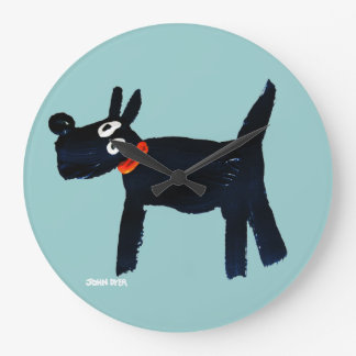 Art Clock: John Dyer Scotty Dog Wall Clocks