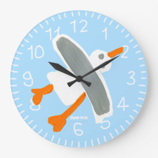 Art Clock: John Dyer Seagull Blue Wallclocks