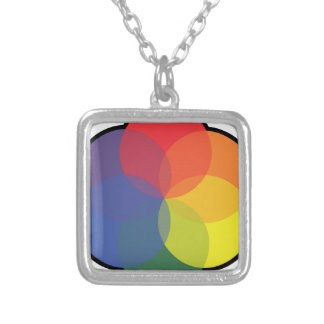 ART COLOR WHEEL SILVER PLATED NECKLACE