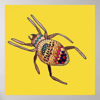 Art coloré d'arachnide d'araignée
