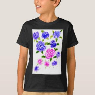 Art coloré de fleurs t-shirt