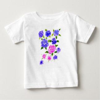 Art coloré de fleurs t-shirt pour bébé