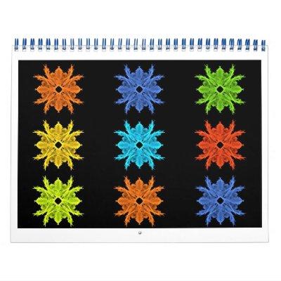 Art coloré de fractale pendant douze mois calendriers muraux