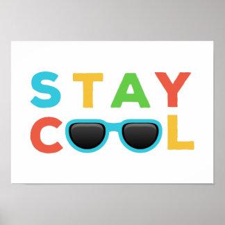Art coloré drôle de crèche du cool | de séjour poster