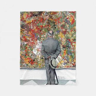 Art Connoisseur by Norman Rockwell Fleece Blanket