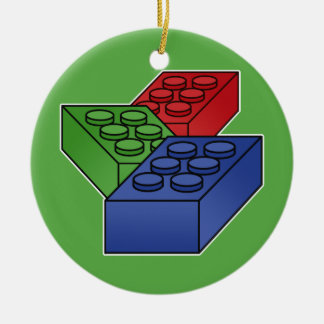 Art - Construction Blocks for Kids Ceramic Ornament