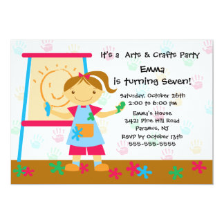 Art & Craft Birthday Party Card