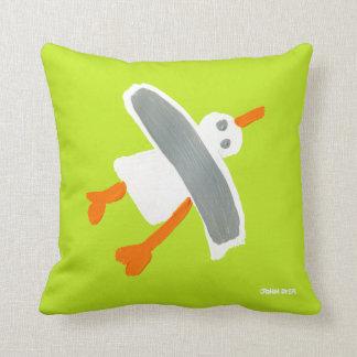 Art Cushion: Camper Colours John Dyer Seagull Throw Pillows