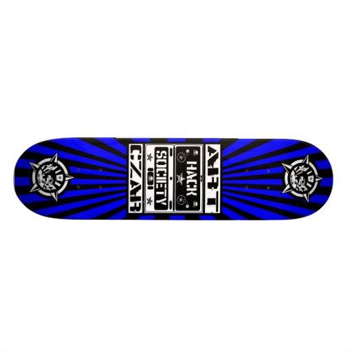 Art Czar - Hack Society (Azure) - Skateboard
