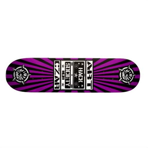 Art Czar - Hack Society (Black Light) - Skateboard