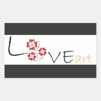 Art d amour sticker en rectangle