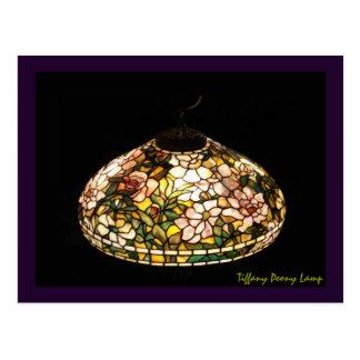 Art d'Américain de lampe de pivoine de Tiffany Cartes Postales