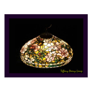 Art d'Américain de lampe de pivoine de Tiffany Carte Postale