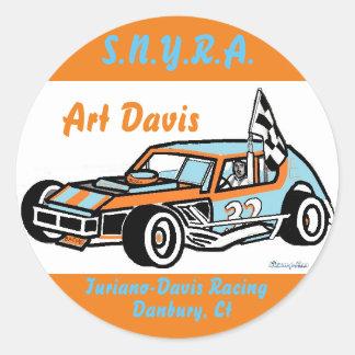 Art Davis Ted Turiano S.N.Y.R.A. Danbury Racearena Round Sticker