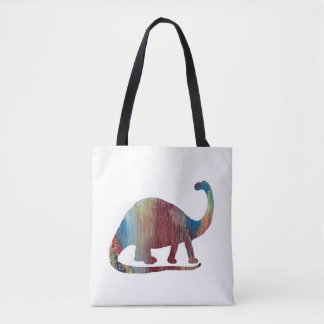 Art de brontosaure tote bag